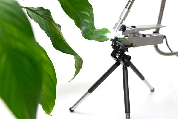 FMS/PTL PAR/Temperature Leafclip for Modulated Chlorophyll Fluorescence System | Hansatech Instruments | Oxygen electrode and chlorophyll fluorescence measurement systems for cellular respiration and photosynthesis research